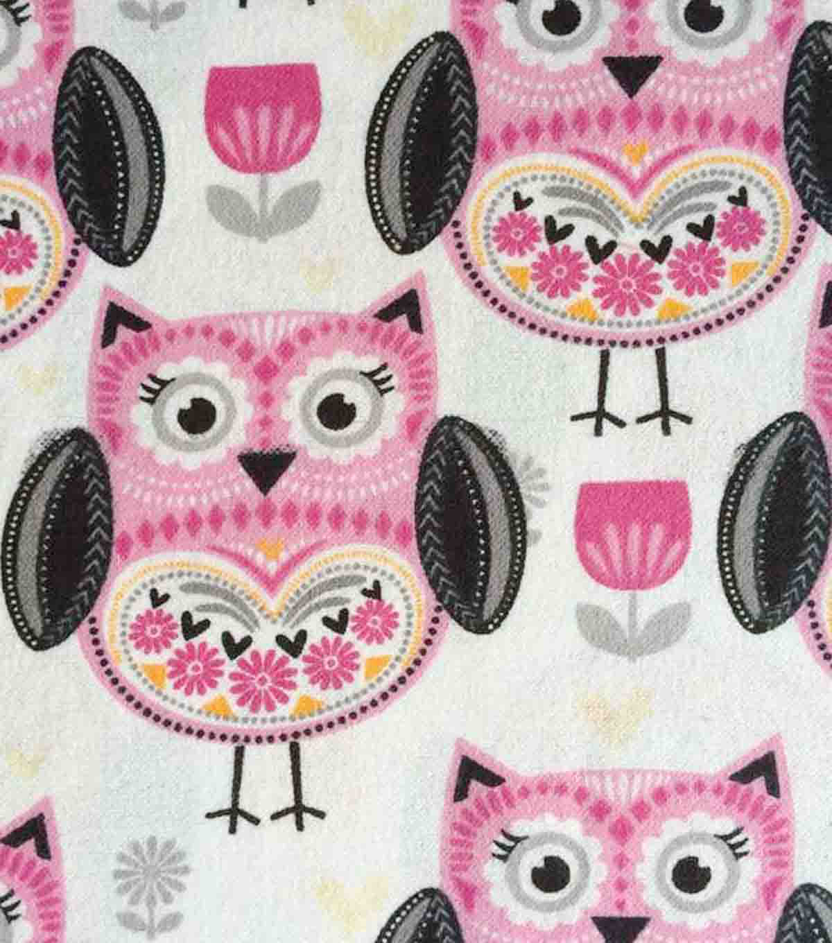 "Snuggle Flannel Fabric 42""-Folk Owl"