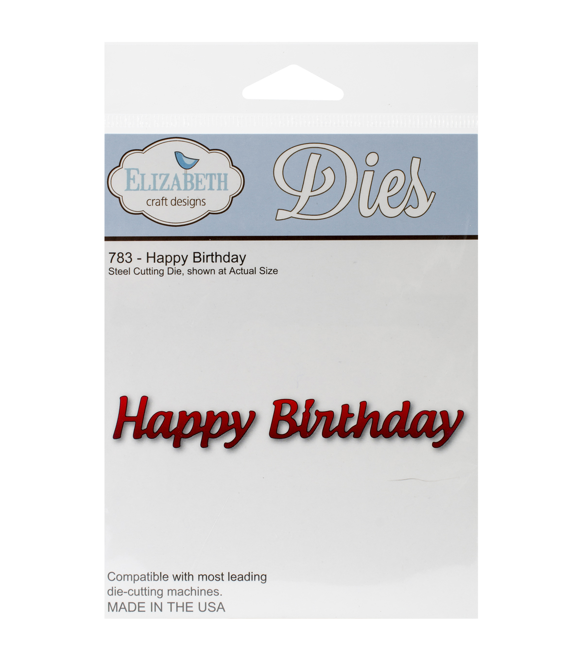 Elizabeth Craft Designs Pop It Up Metal Happy Birthday Die