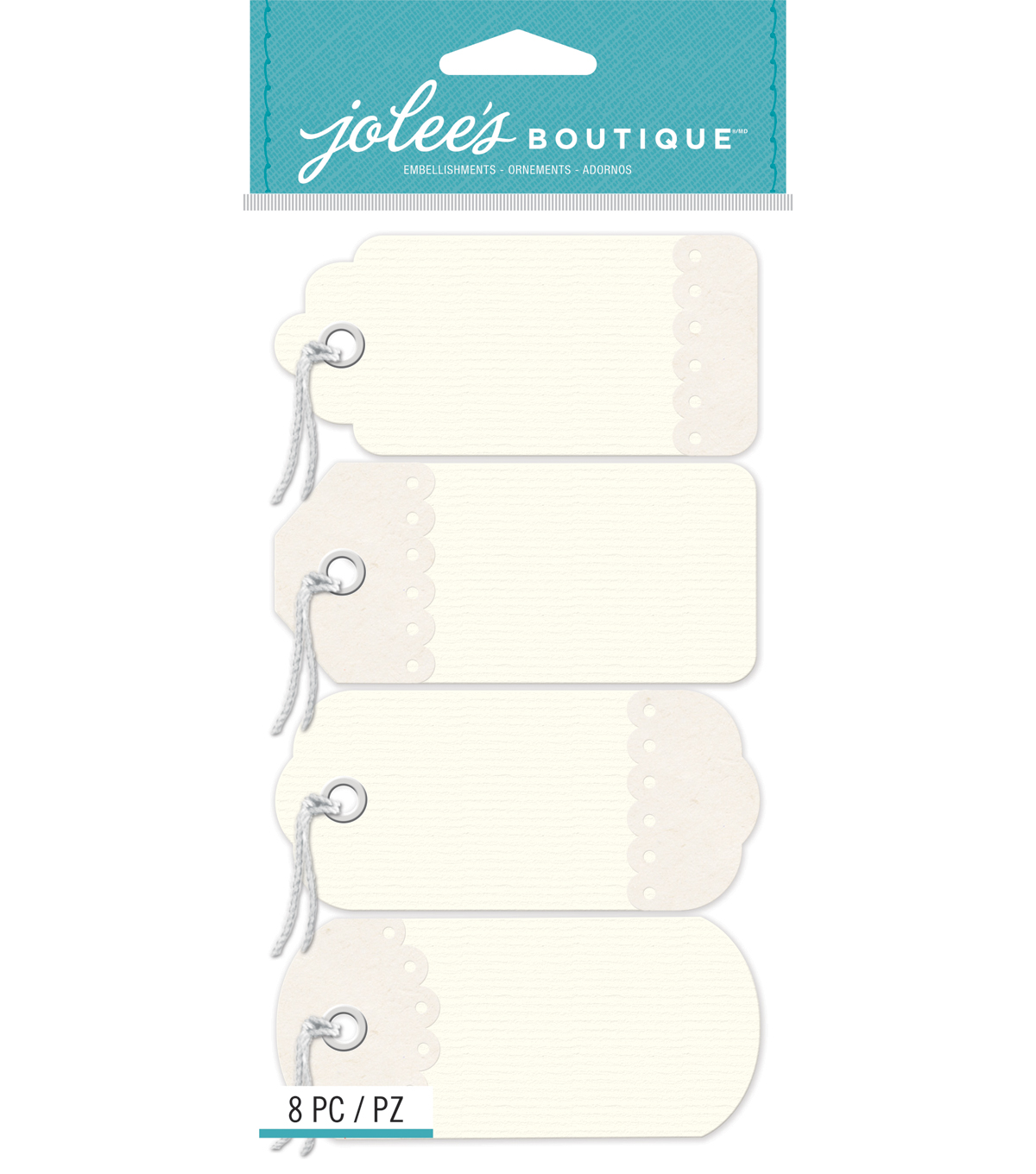 Jolee\u0027s Boutique - Ivory Tags with Twine
