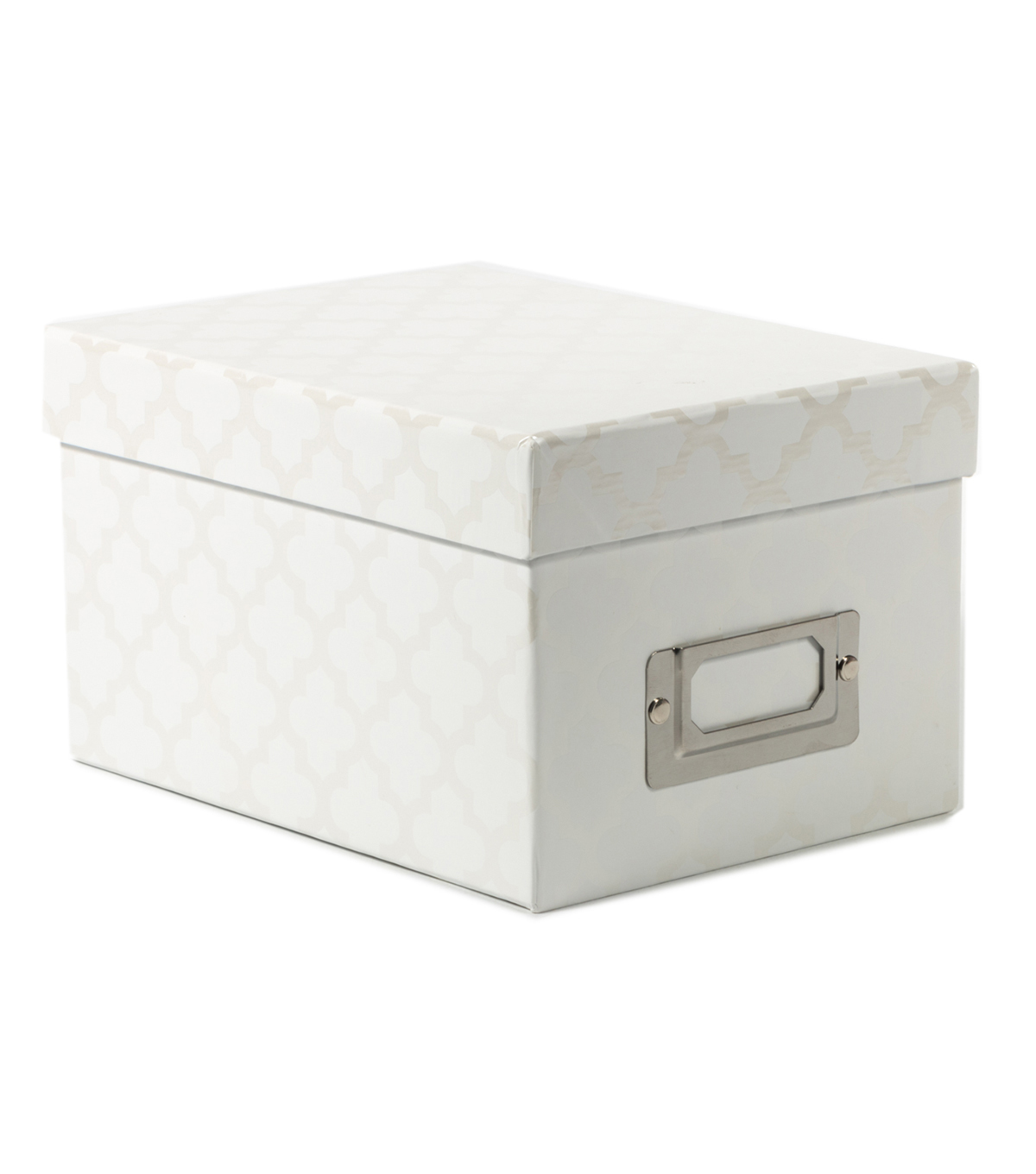 DCWV Mini Box: White with quatrefoil designs