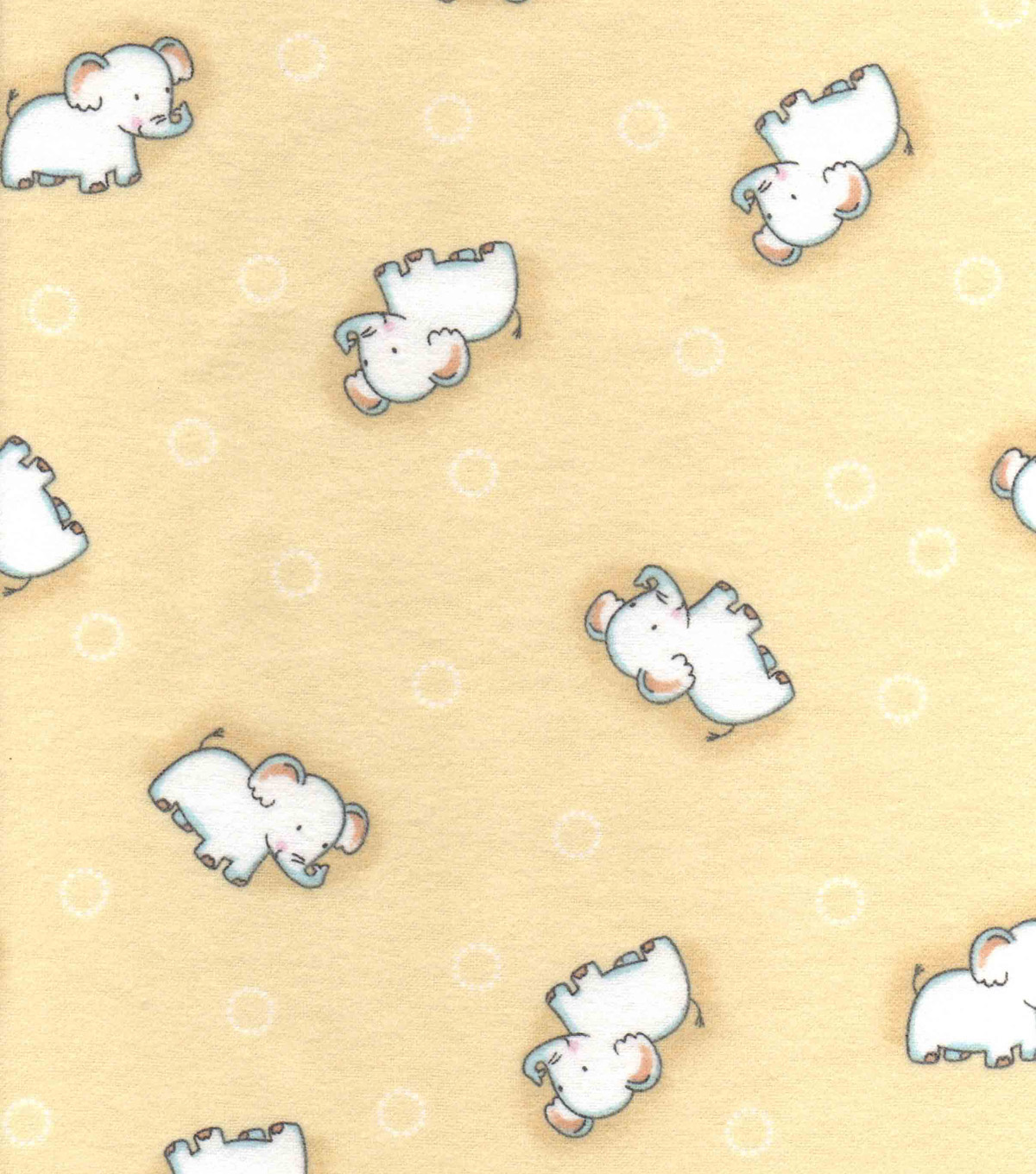 Nursery Flannel Fabric 42\u0022-Safari Elephant