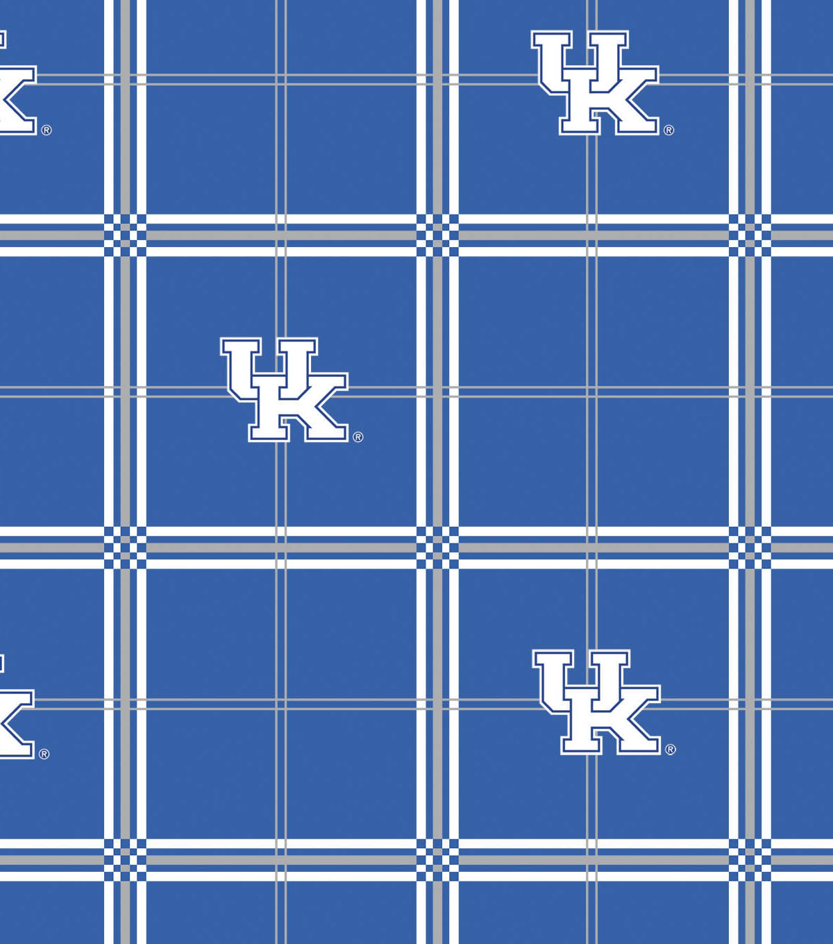 University of Kentucky Wildcats Flannel Fabric 42\u0022-Plaid