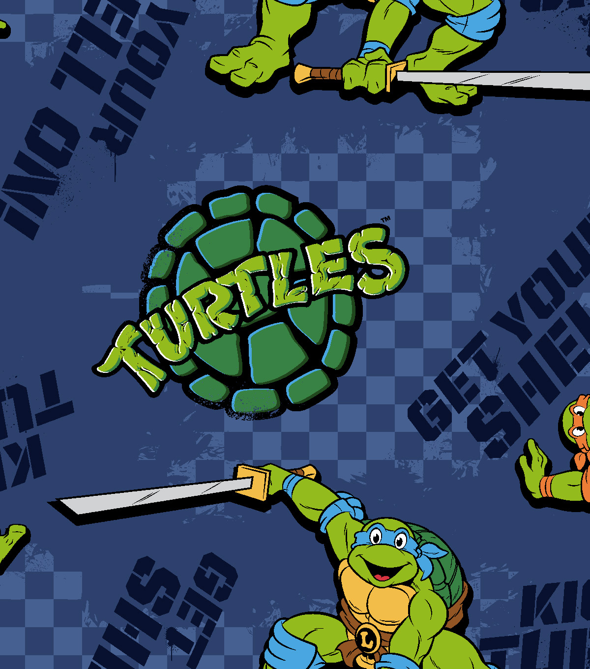 Nickelodeon® Teenage Mutant Ninja Turtles® Fleece Fabric 59\u0022-Kickin It Turtle Style