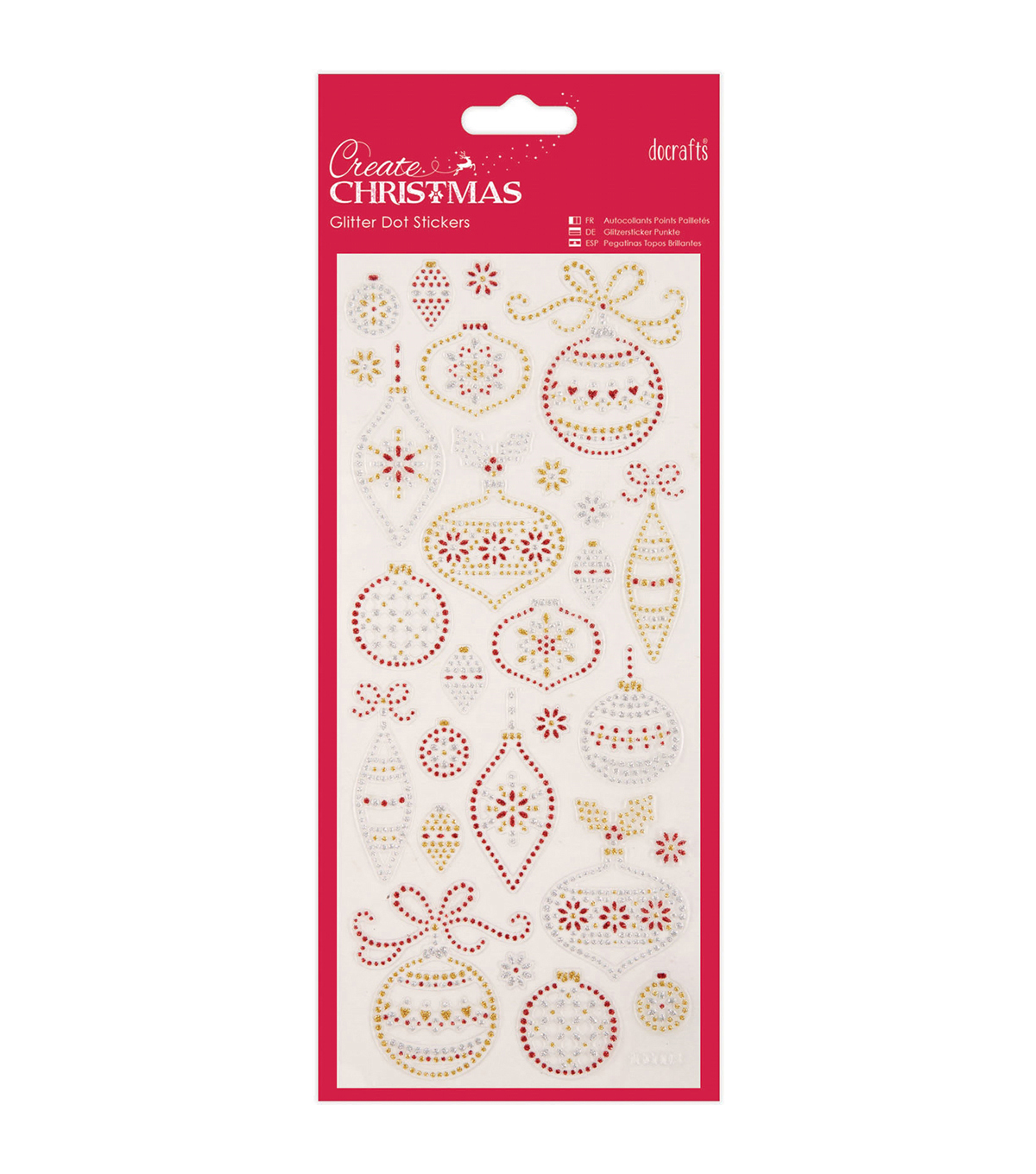 Papermania Create Christmas Dot Stickers-Christmas Baubles