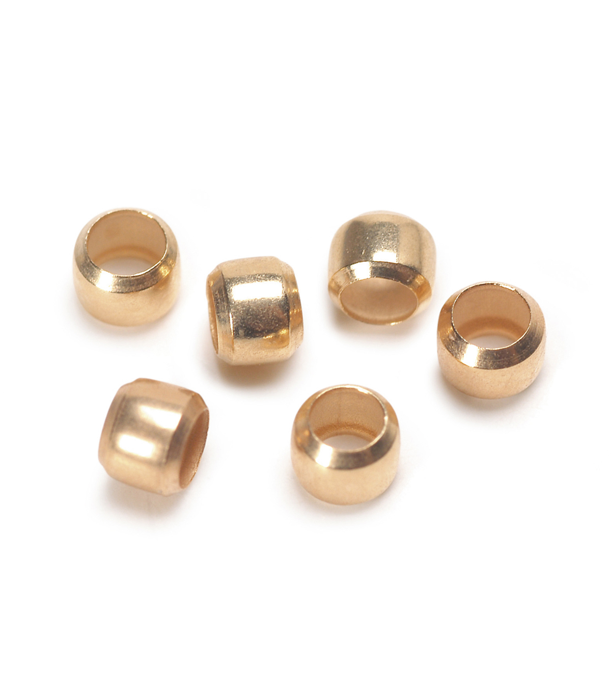 2.5mm Gold Crimp Beads