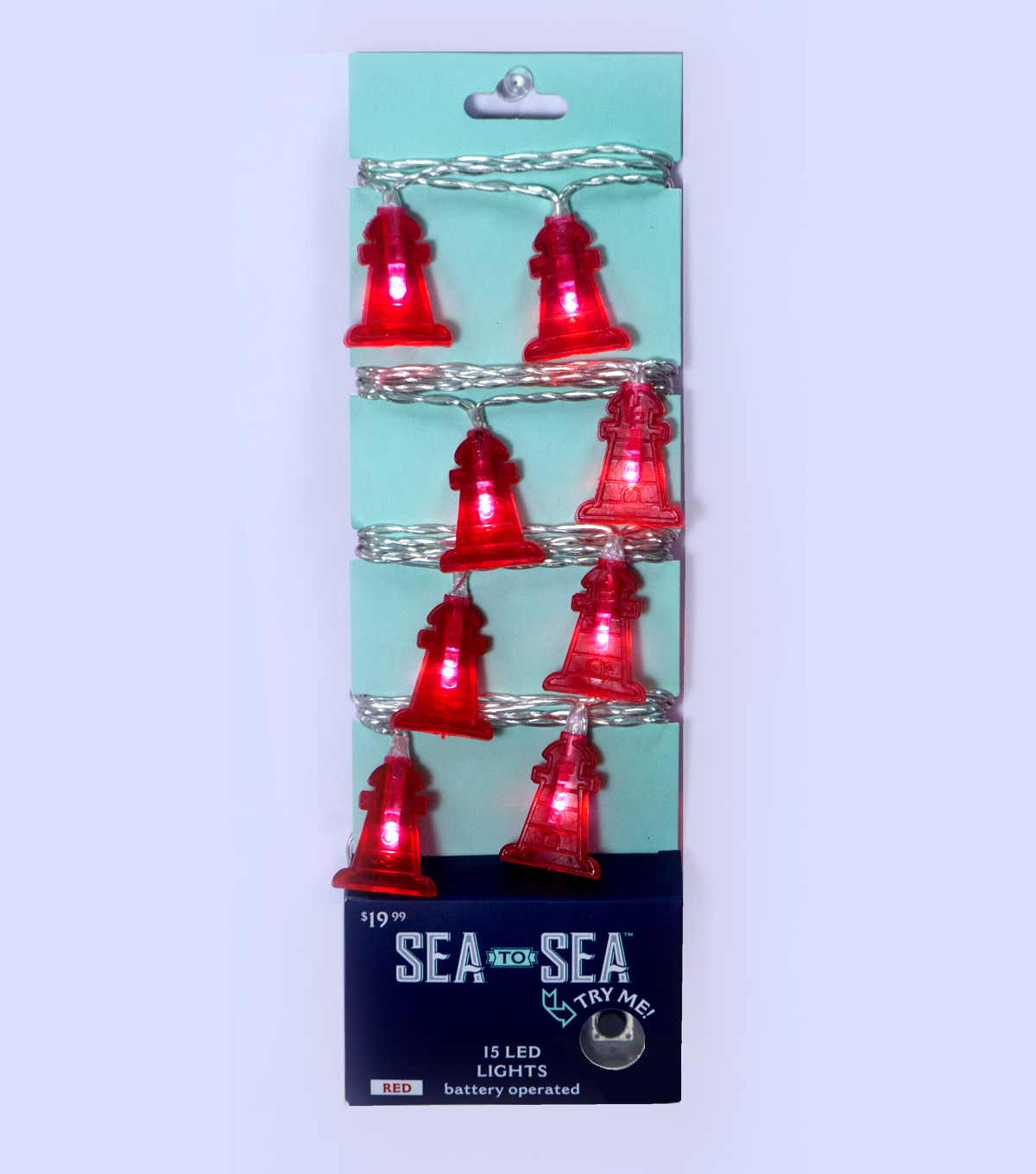Sea to Sea 15ct Battery Operated Lighthouse LED Lights-Red