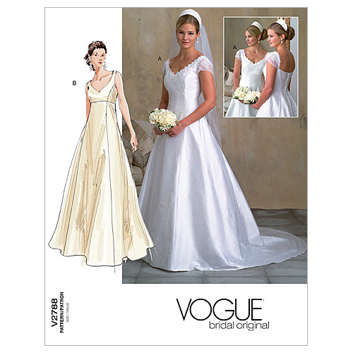 Vogue Patterns Misses Bridal-V2788