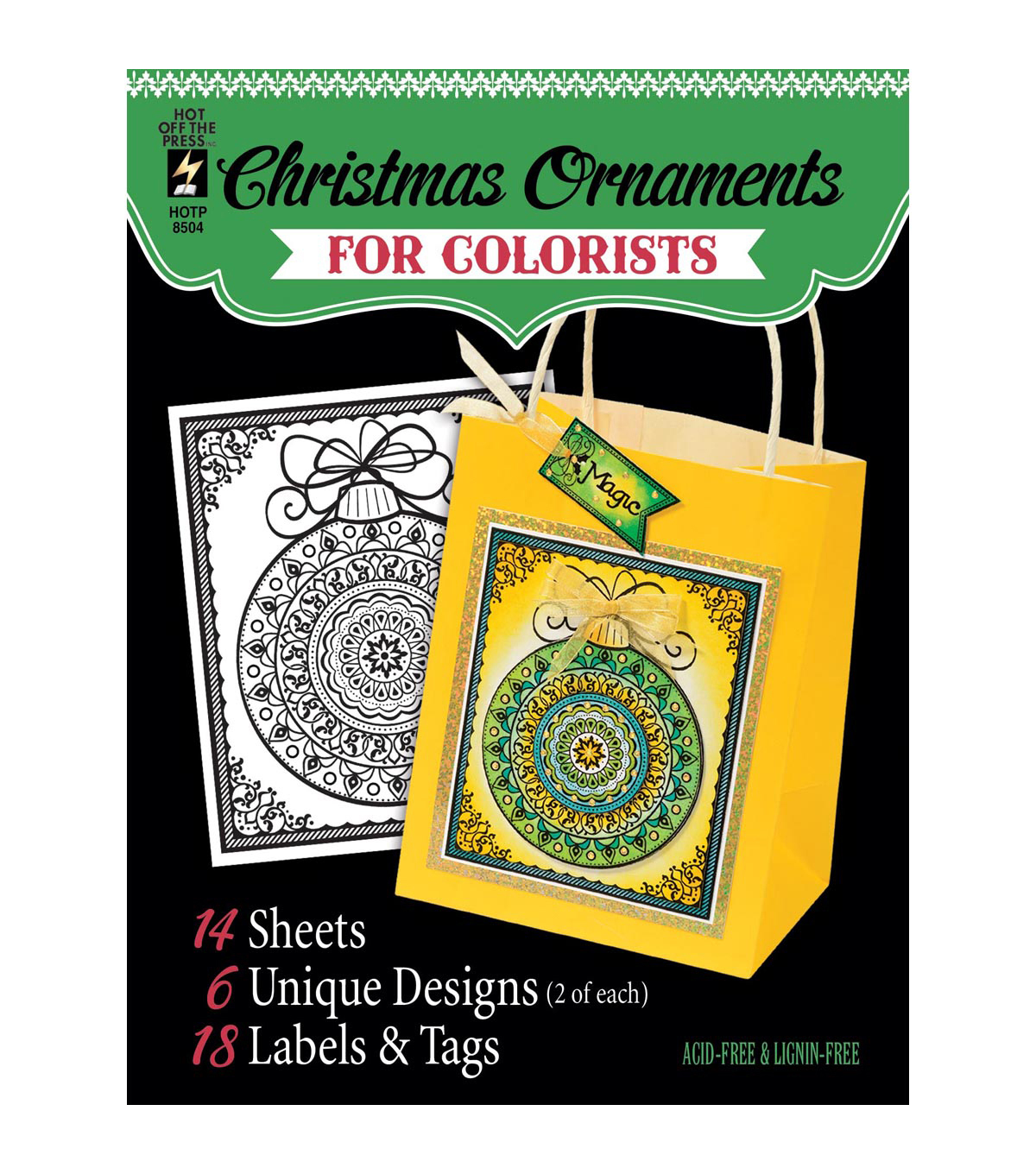 Adult Coloring Book Hot Off The Press Fancy Christmas