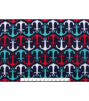 Blizzard Fleece Fabric 59\u0022-Anchors