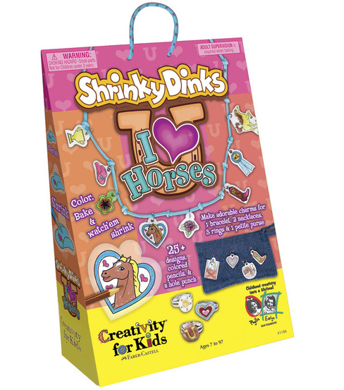 Creativity for Kids Kit-I Love Horses Shrinky Dinks