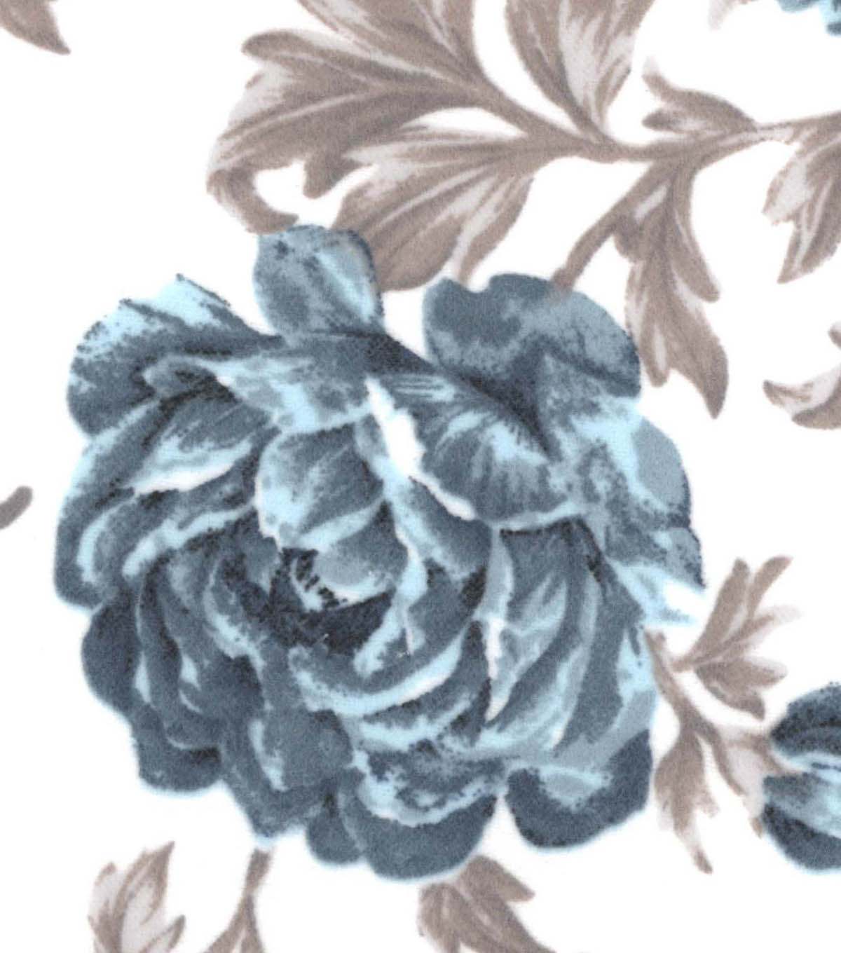 Snuggle Flannel Fabric 42\u0022-Denim Sketched Floral