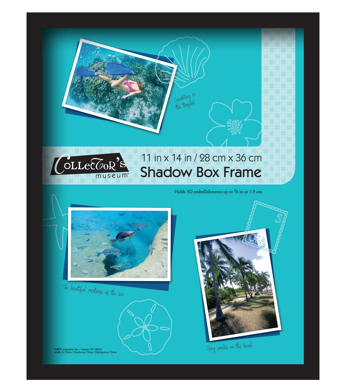 Shadowbox Frame 11X14-Omega Black