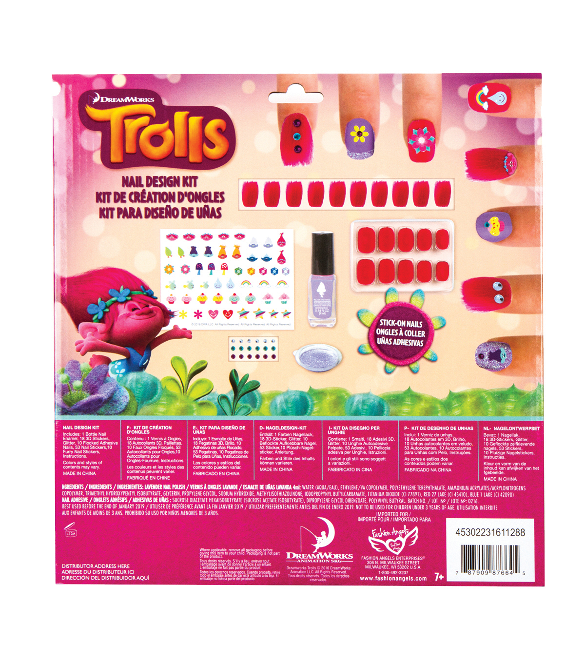 Fashion Angels Dreamworks Trolls Nail Design Kit