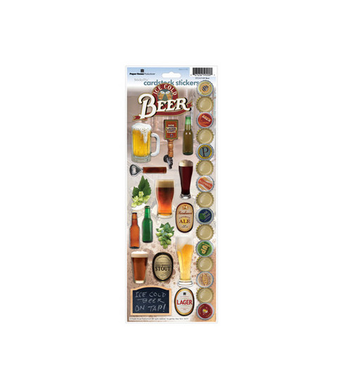 Paper House Cardstock Stickers-Beer