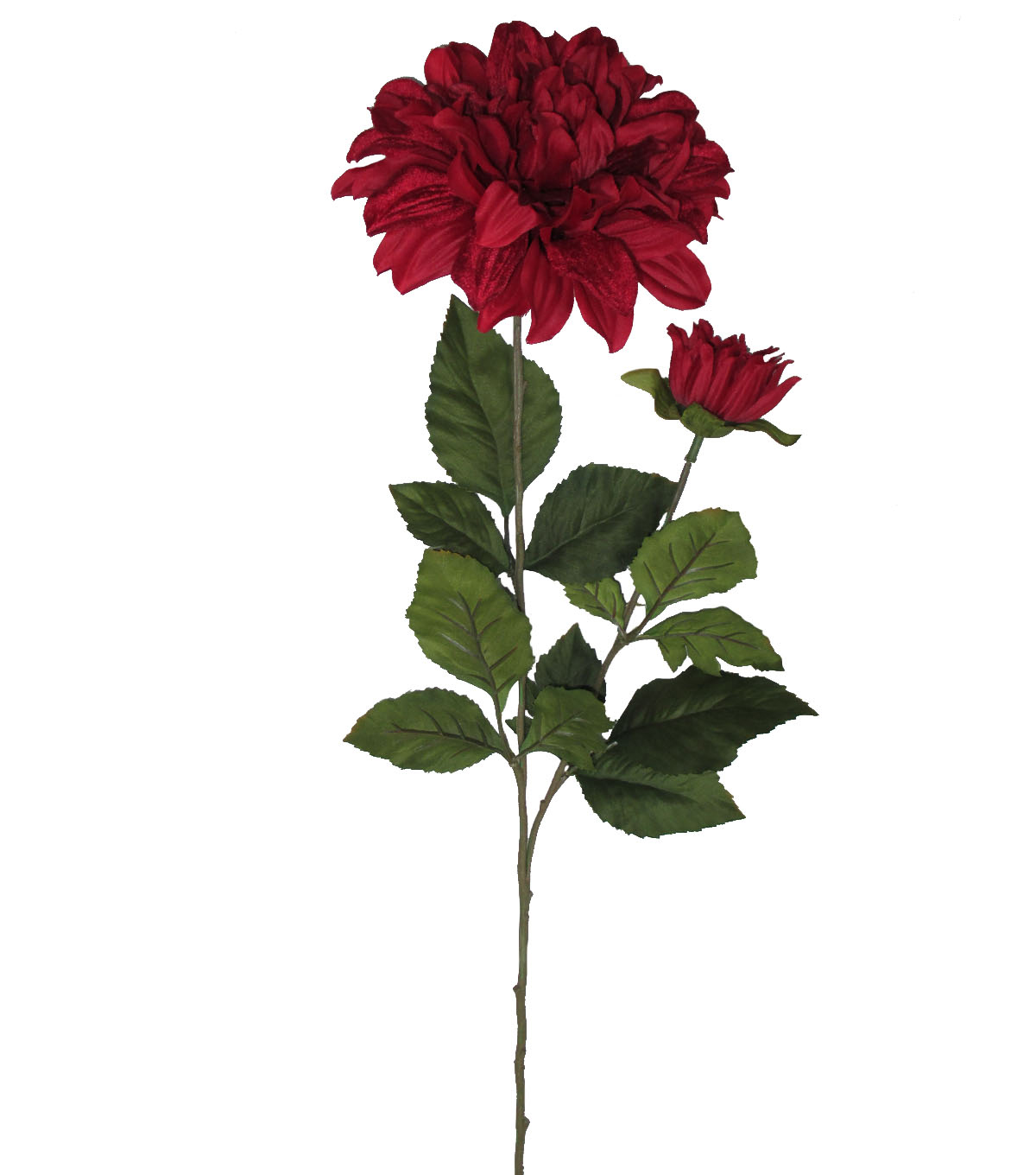 Blooming Autumn 30'' Velvet Dahlia Spray-Red