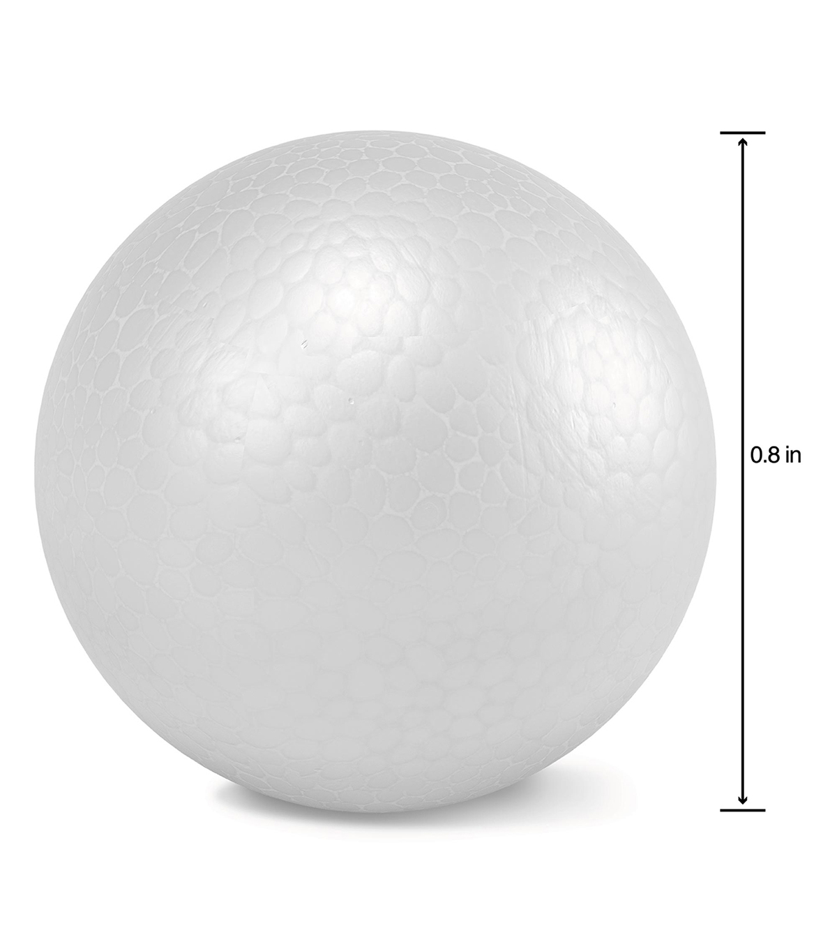 Smooth Foam Balls 1\u0022 16/Pkg-White