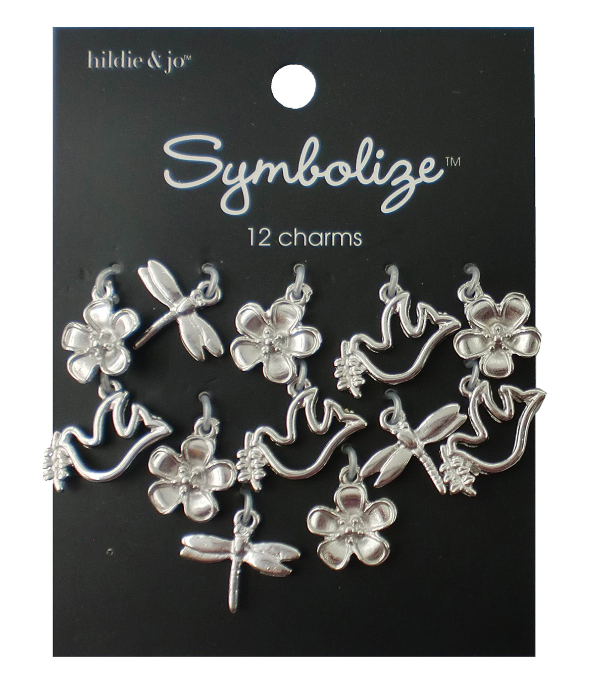 hildie & jo™ Symbolize 12 Pack Nature Silver Charms