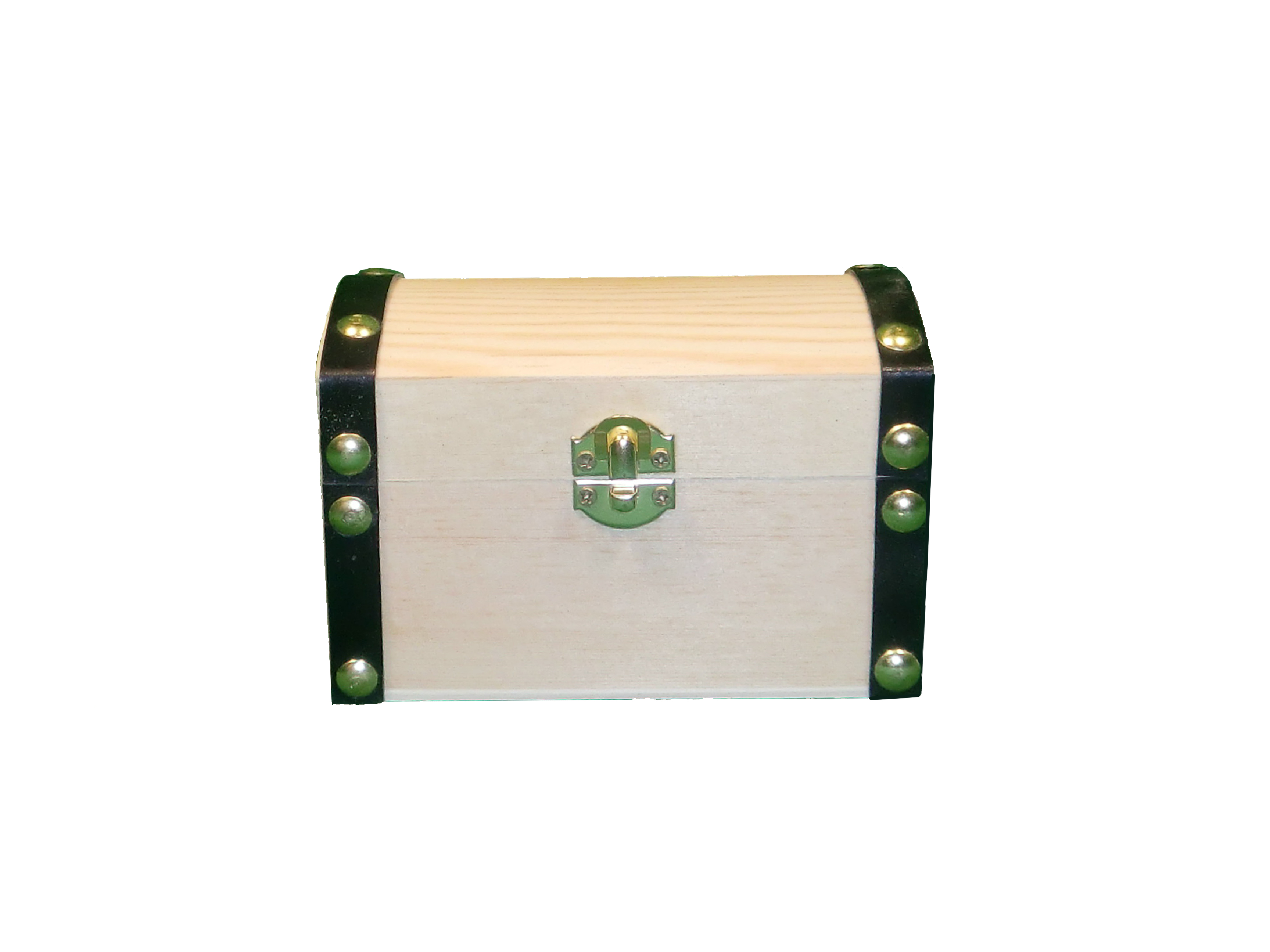 Keepsake Chest With Leather Edges Small