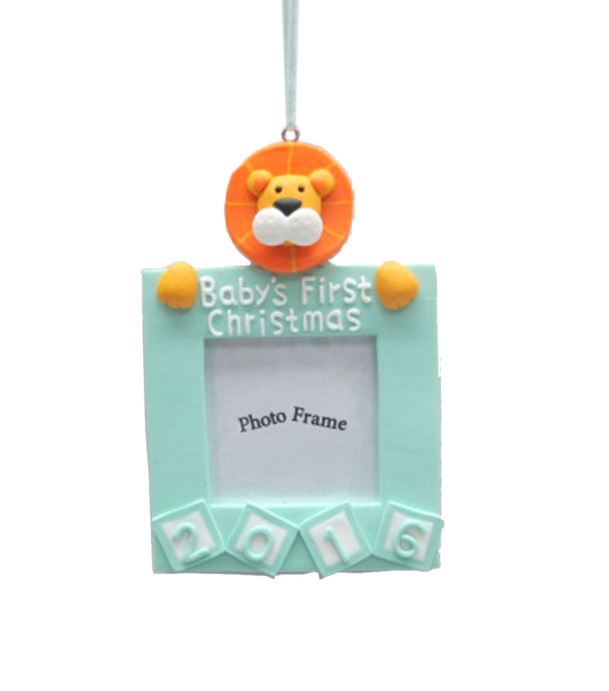 Maker\u0027s Holiday Baby Boy\u0027s First Christmas Frame Ornament