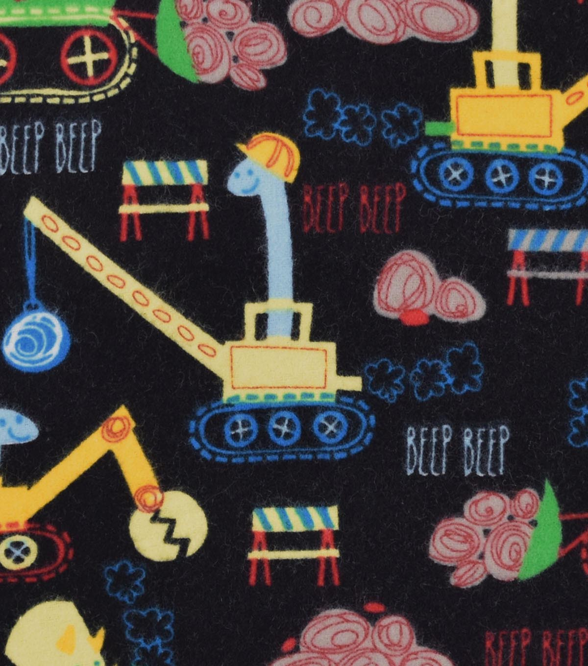 Snuggle Flannel Fabric 42\u0022-Construction Dinos