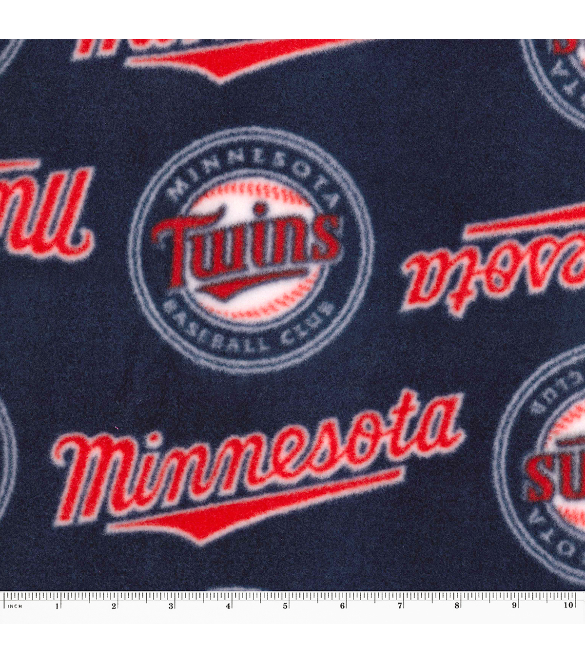 Minnesota Twins Fleece Fabric 58\u0022-Tossed