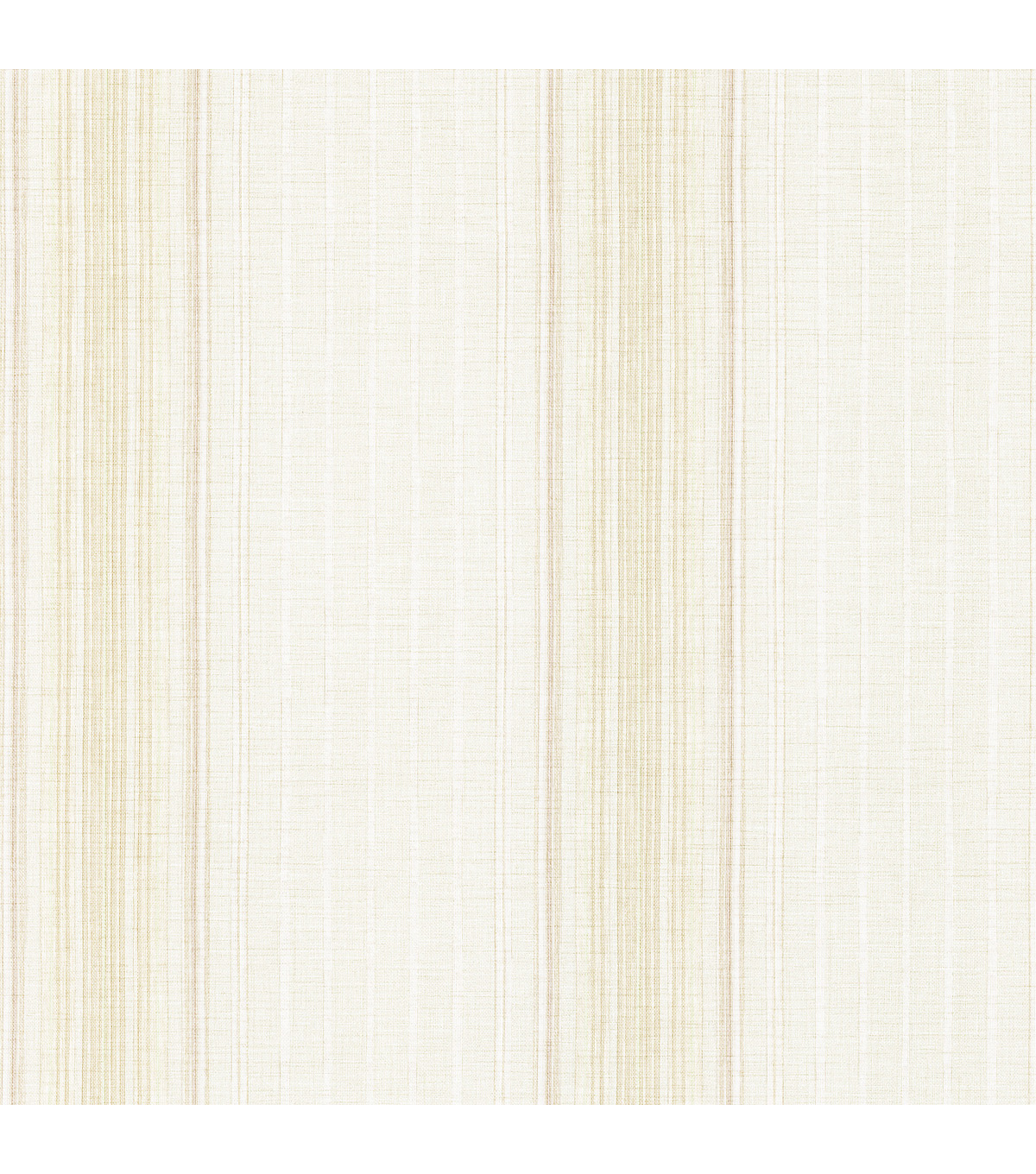 Natuche Taupe Linen Stripe Wallpaper Sample