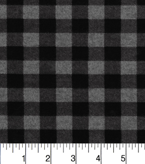 "Premium Flannel Quilt Fabric 42""-Buffalo Gray Plaid"