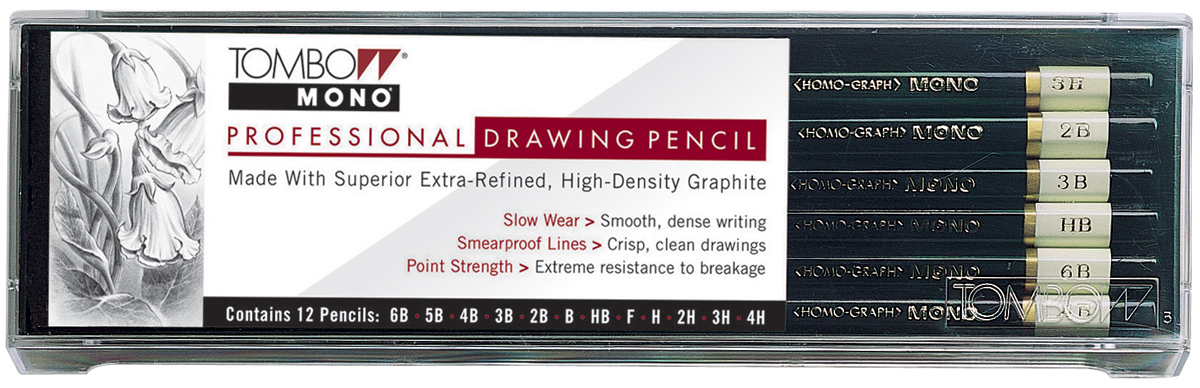 Tombow Professional Drawing Pencil Set-12PK