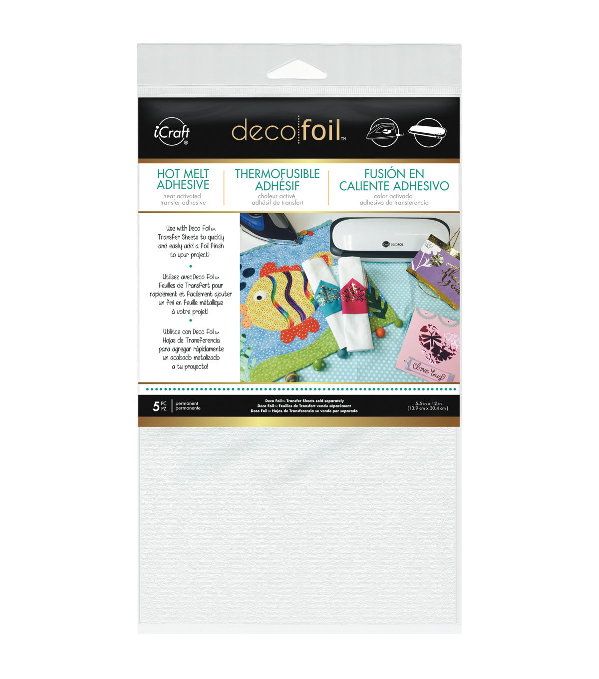 Icraft Deco Foil Iron-On Adhesive Transfer Sheet