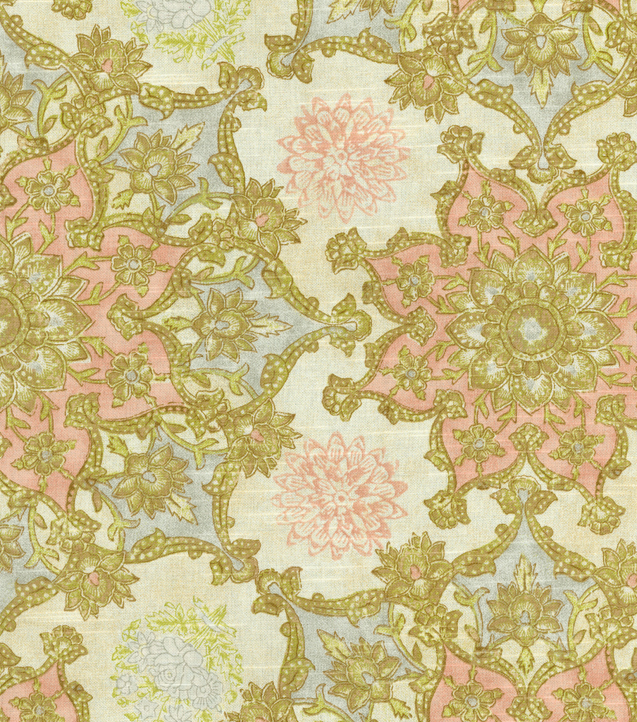 "Waverly Print Fabric 54""-Incense Wheel/Rosewater"