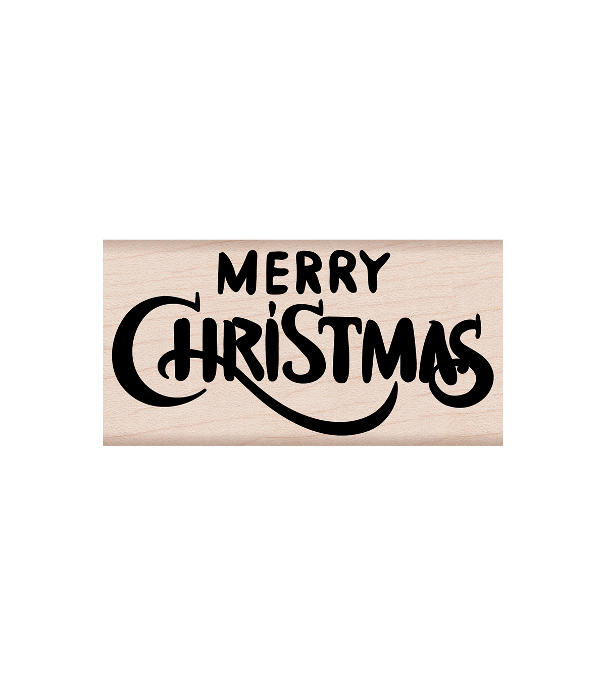 Hero Arts® Wood Mounted Rubber Stamp-Merry Christmas Calligraphy