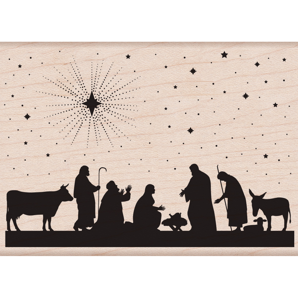 Hero Arts Mounted Rubber Stamps Nativity