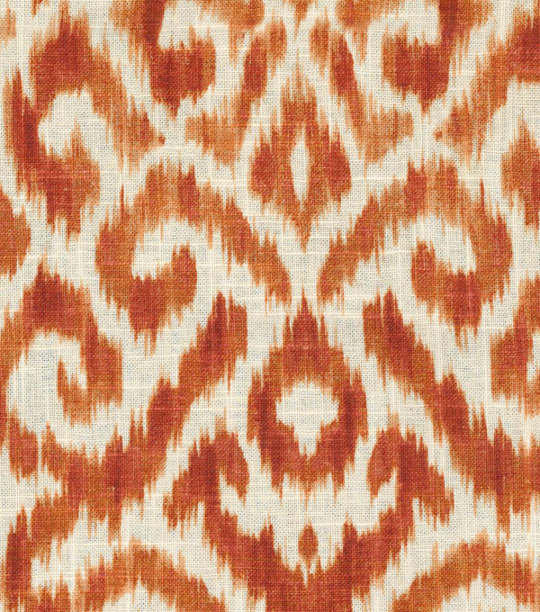 Williamsburg Upholstery Fabric 54\u0027\u0027-Persimmon Thompson Ikat
