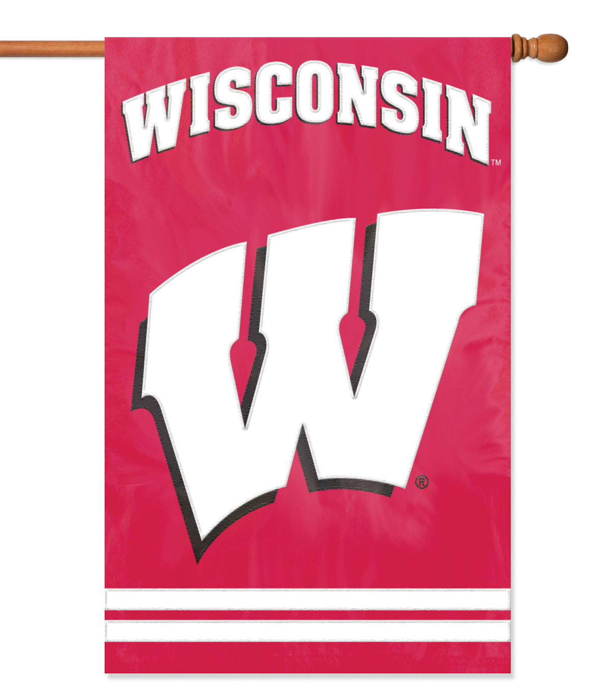 University of Wisconsin Badgers Applique Banner Flag
