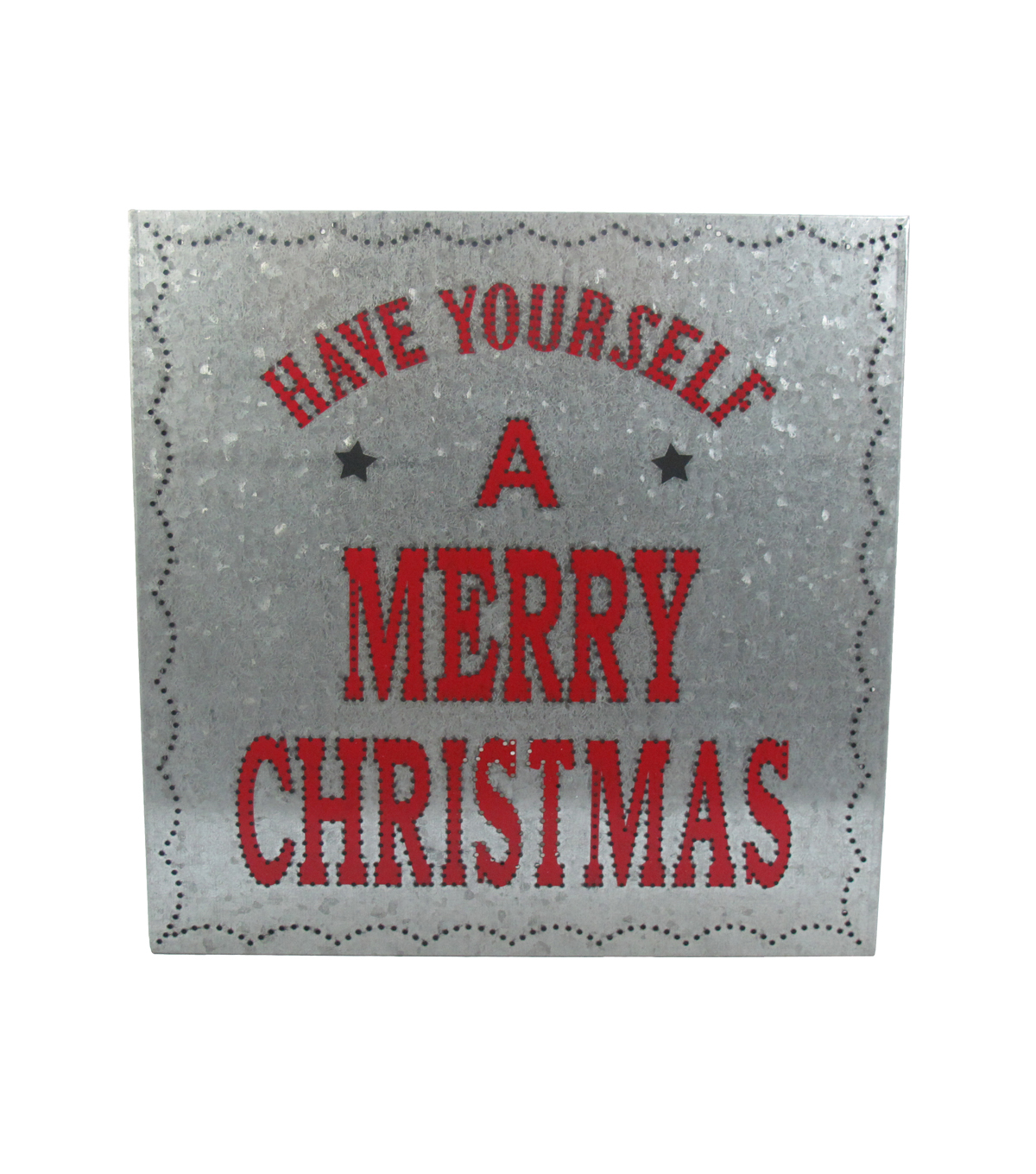 Maker's Holiday Metal Wall Decor-Merry Christmas