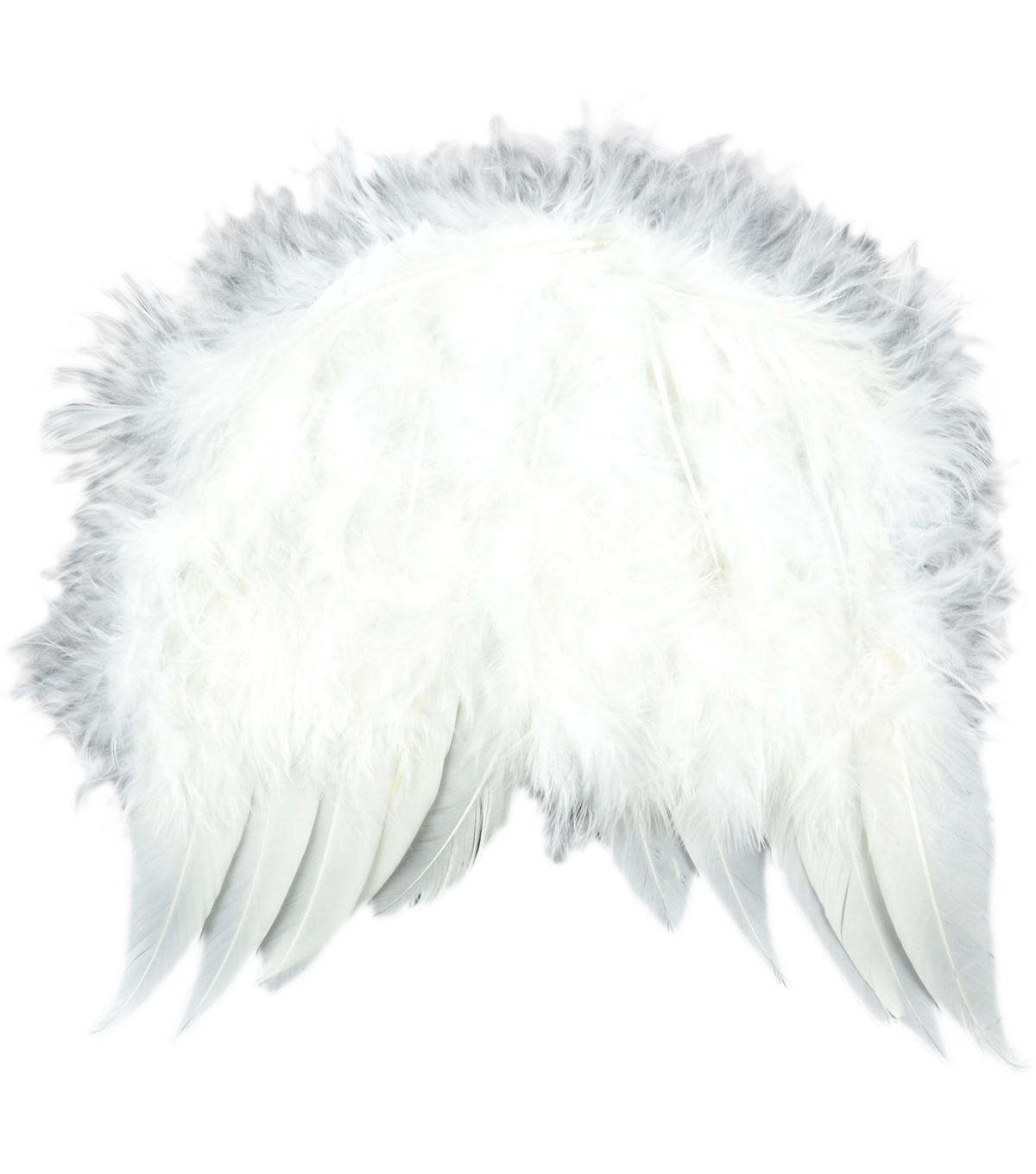 Feather Angel Wings 6\u0022X5-1/2\u0022-White