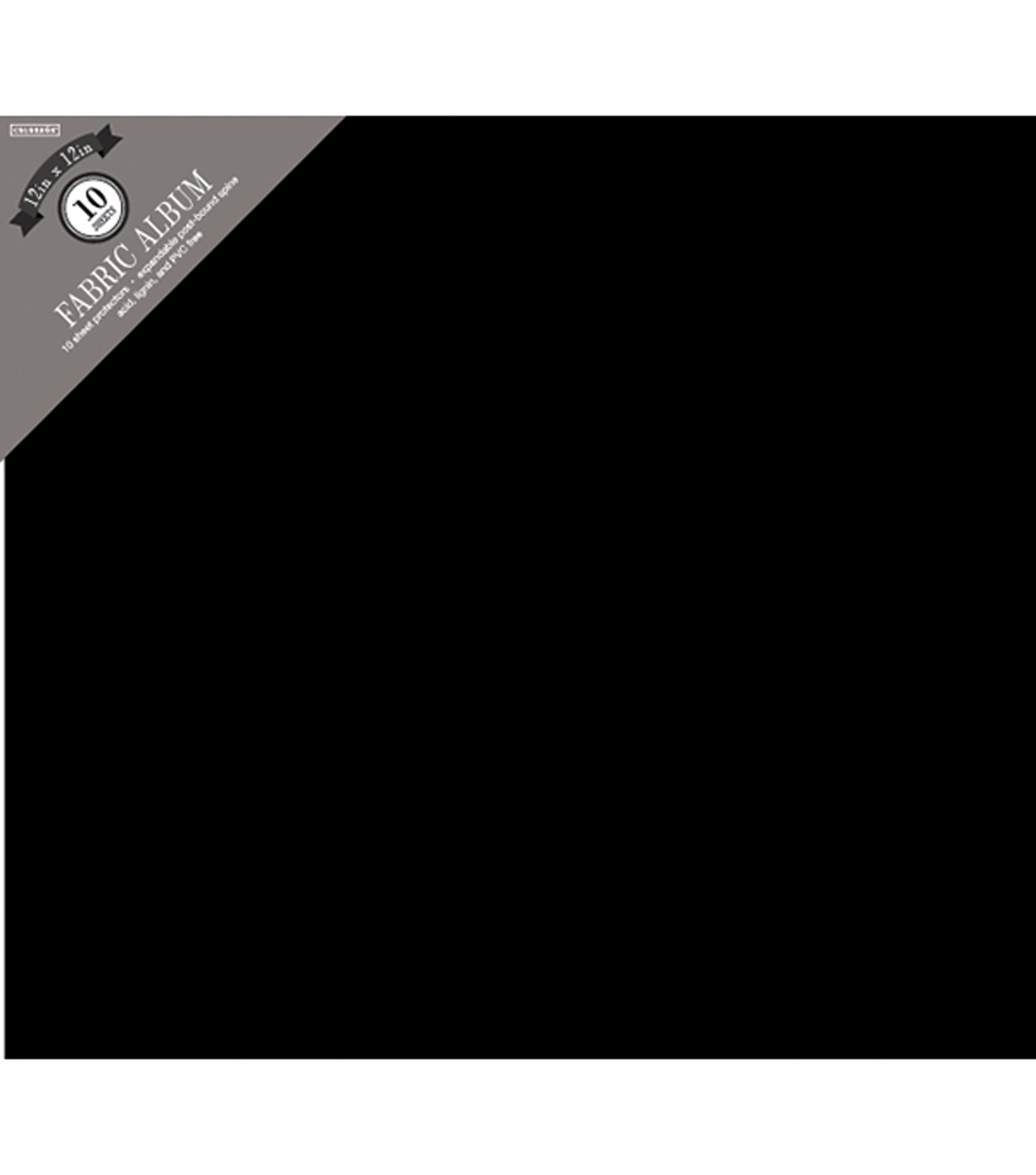 Colorbok Fabric Post Bound Album 12\u0022X12\u0022-Black