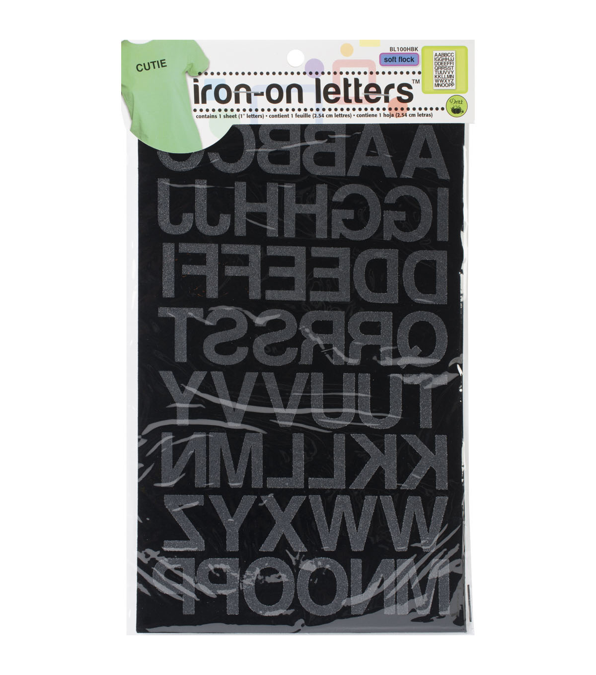 Dritz Soft Flock Iron On Letters 1 Block