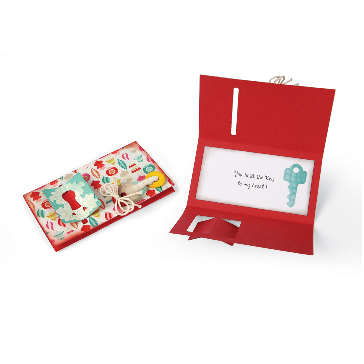 Sizzix Thinlits Dies Card with Folding Closure & Keys