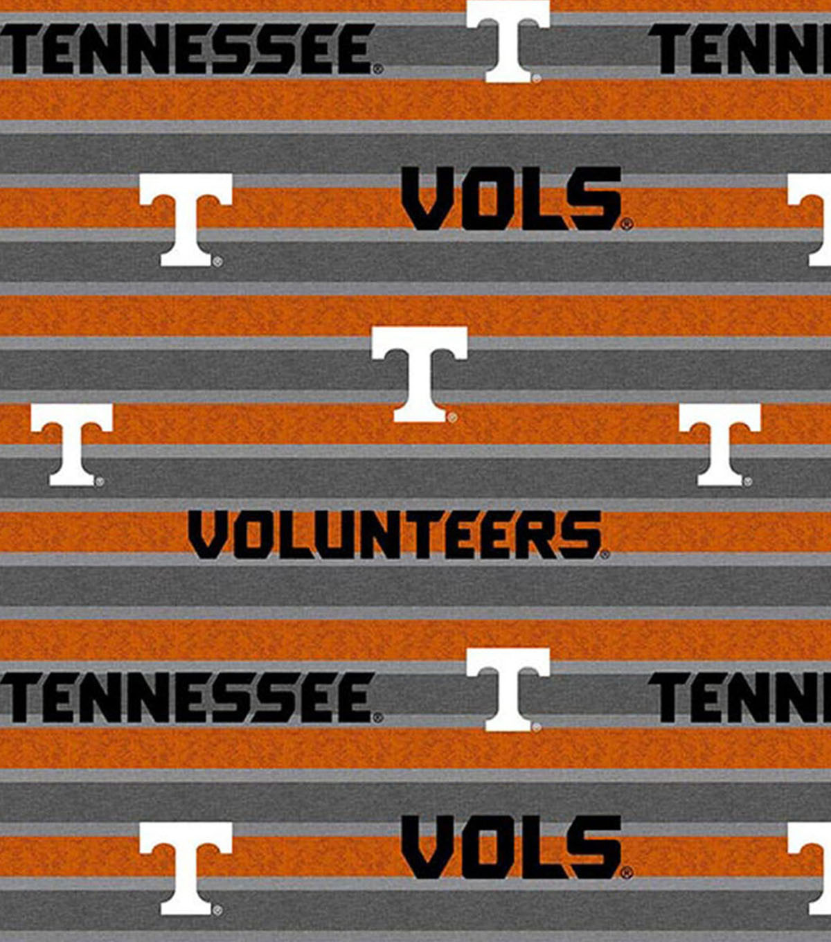 University of Tennessee Volunteers Cotton Fabric 44\u0022-Polo Stripe