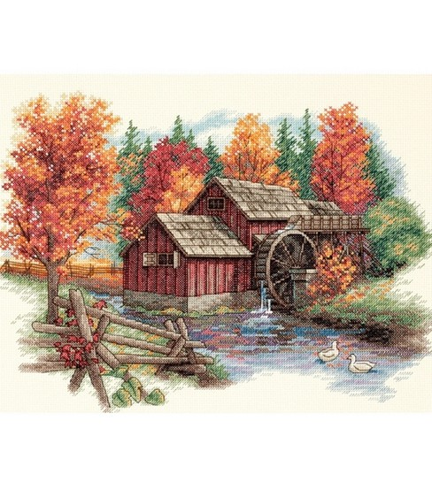 Dimensions Glory Of Autumn Cntd X-Stitch Kit