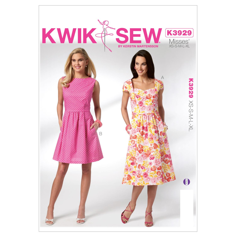 Misses dresses xs s m l xl pattern joann kwik sew misses dress k3929 jeuxipadfo Choice Image