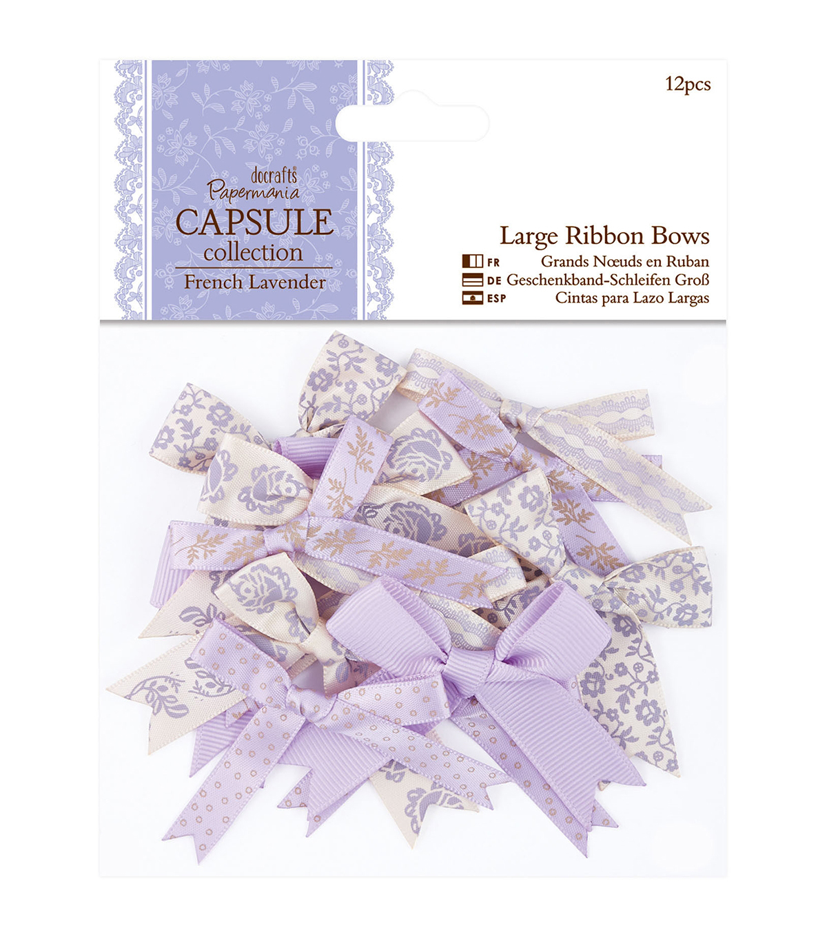 Papermania Capsule French Lavender Large Ribbon Bows