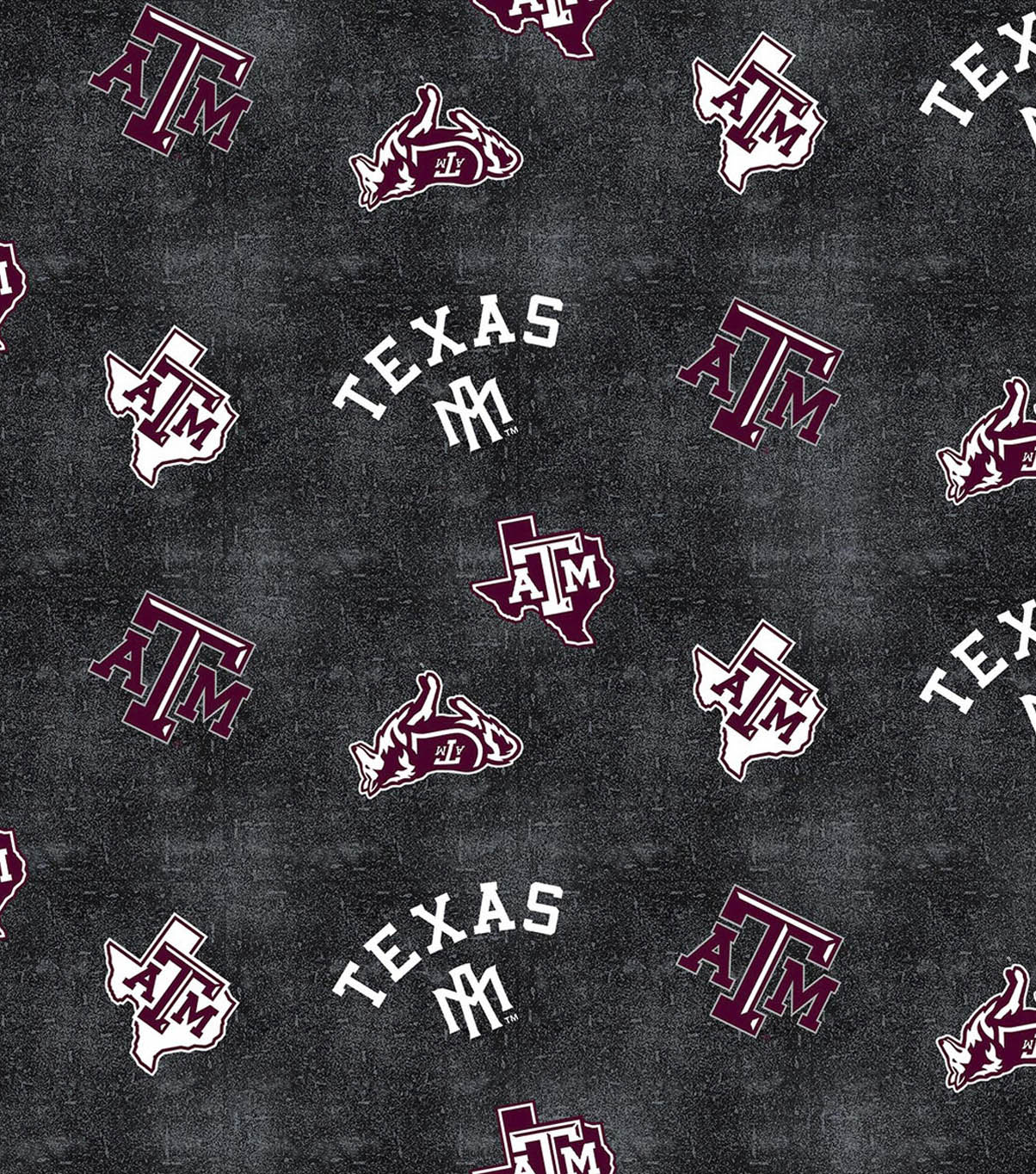 Texas A&M University Aggies Flannel Fabric 42\u0022-Distressed Logo