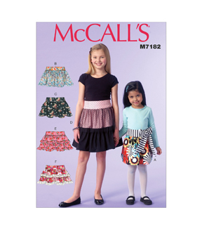McCall's Pattern M7182-CCE Children's/Girls' Skirts-3-4-5-6