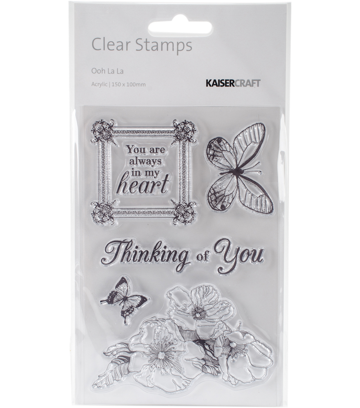 Ooh La La Clear Stamps 6\u0022X4\u0022