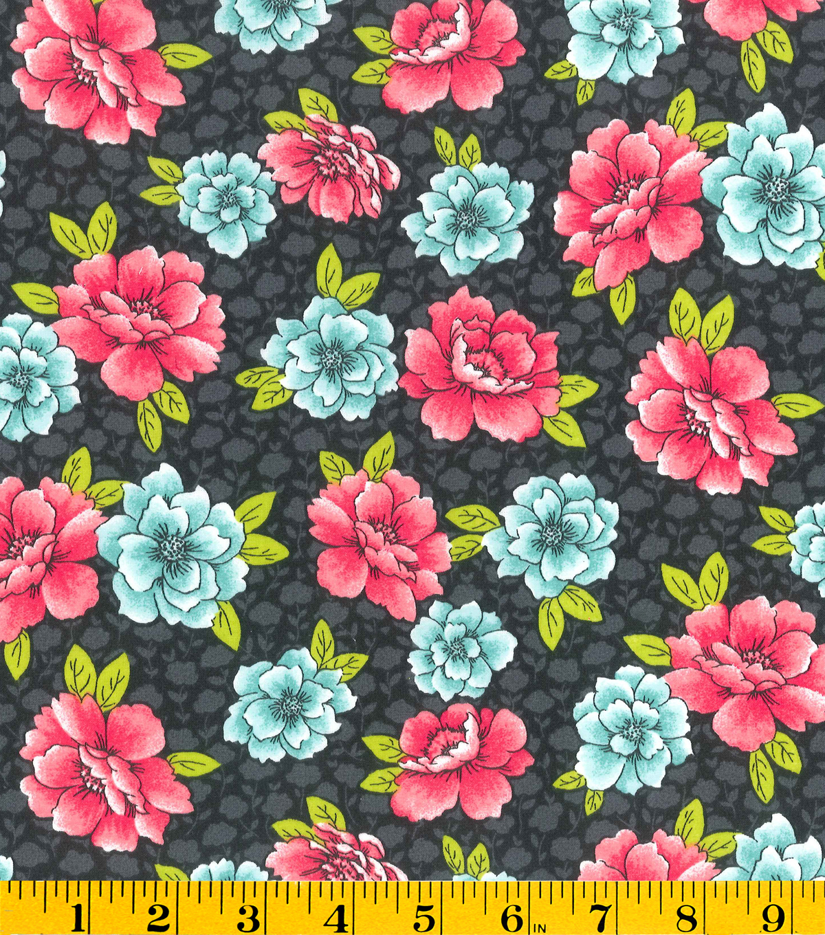 "Made in America Cotton Fabric 44""-Floral"