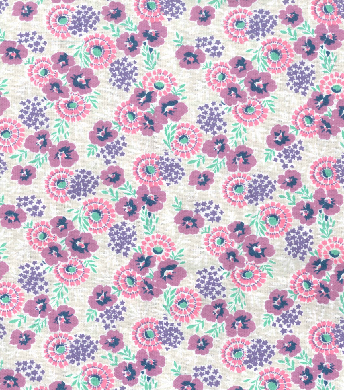 Wide Flannel Fabric 108\u0022-Fuschia Floral On Gray