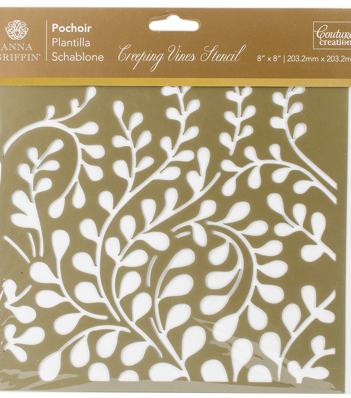 Couture Creations Anna Griffin Arabesque 8\u0027\u0027x8\u0027\u0027 Stencil-Creeping Vines
