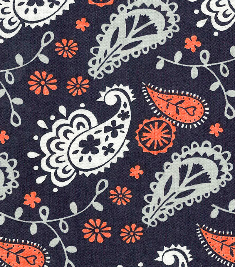 Quilter's Showcase™ Fabric 43''-Fusion Paisley on Navy
